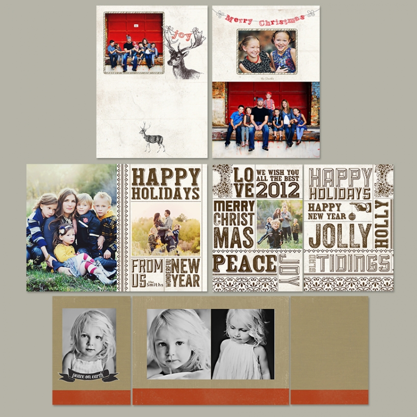 prophoto4 templates - 2012 folded christmas cards on sale 45 simplicity